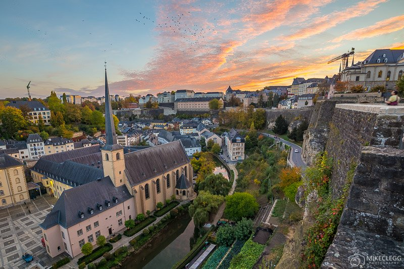 Luxembourg-Skyline-at-sunset